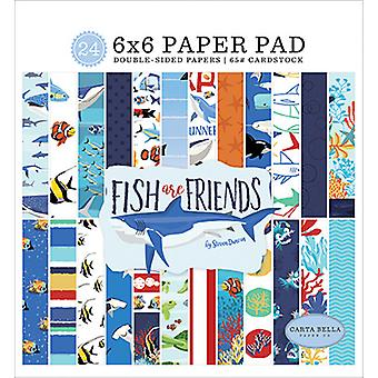 كارتا بيلا الأسماك أصدقاء 6x6 بوصة ورقة وسادة