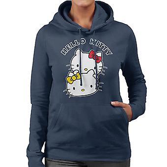 Hello Kitty ja Mimmy Luonne Päät Naiset&s Hupullinen Collegepaita