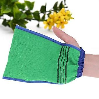 1 Pcs Bath Glove With Two Sided Scrubber For Body Cleaning And Dead Skin Removal