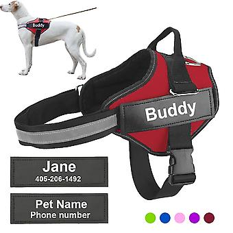 Personalized Dog Harness Reflective Adjustable Pet Harness Vest For Small-large Dog With Customized Patch Dog Walking Supplies