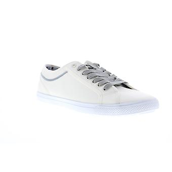 Ben Sherman Chandler LO  Mens White Leather Lifestyle Sneakers Shoes