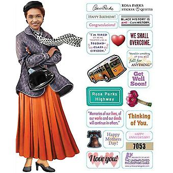 Stationery - Rosa Parks - Card and Sticker Sheet New 2223