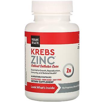 Vibrant Health, Krebs Zinc, 60 Vegetable Capsules