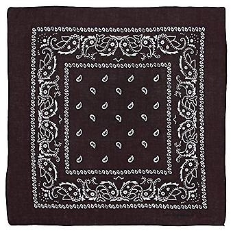 Large 100% Cotton Paisley Bandanas (22 inch x 22 inch) - Dark Brown Single Pi...