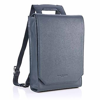 Lilly Leather Laptop Backpack in Petrol Richmond Chrome Free Leather