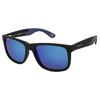 Sunglasses Unisex polarizes matt black/blue (P32320/Q)