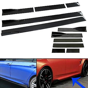 Audi A1, A2 A3, A4, A5, A6, A7, A8 6 PCS Gloss Black Car Side Skirt Rocker Panel Splitter Spoiler Blades