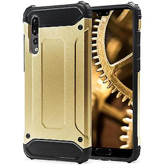 Shell to Huawei P20 Pro Gold Armor Protection Case Hard