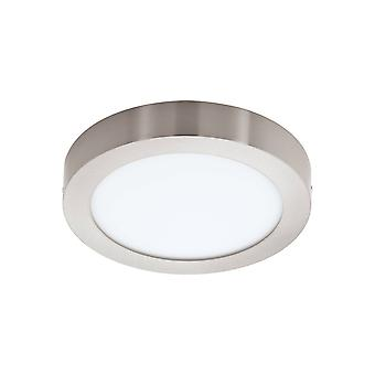 LED Control Tuneable & RGB Down Flush Mount Ceiling Light Satin Nickel