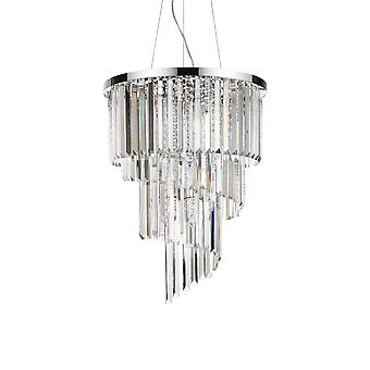 Ideale Lux Carlton - 12 Licht Hanger Light Chrome, E14