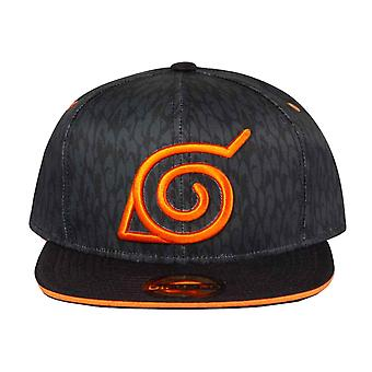 Naruto Shippuden Baseball Cap Badge Logo nouveau Snapback officiel Black