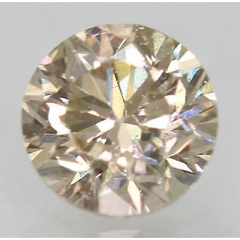 Cert 0.53 Carat TL Brown VVS2 Round Brilliant Enhanced Natural Diamond 4.94mm