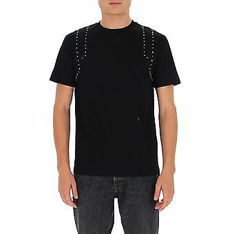 Les Hommes Ljt102703u9000 Men's Zwart Katoen T-shirt