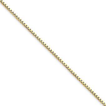 10 k Gelbgold solide poliert 1,10 mm Box Kette Halskette Hummer Kralle Schmuck Geschenke für Frauen - Länge: 16 bis 30