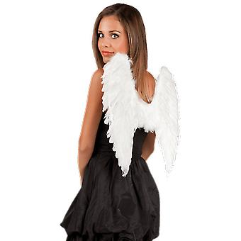 White Feather Wings 50x50cm Fancy Dress Angel Costume Accessory