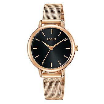 Lorus Ladies Rose Gold Dress Mesh Bracelet Strap Watch (Model No. RG242NX8)