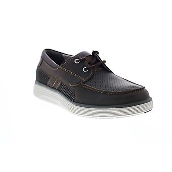 Clarks Un Abode Step  Mens Brown Wide Loafers & Slip Ons Boat Shoes