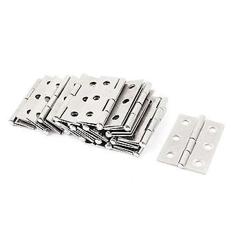 Inox Steel Wardrobe Cabinet Door Folded Hinge (argent)