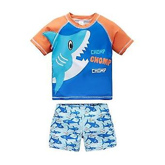 Baby Boys Swimwear Shark Dinosaur 2pcs Swimsuits Cartoon Baby Boy Swimwear Beach Wear
