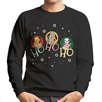 Sooty Christmas Ho Ho Ho Men's Sweatshirt