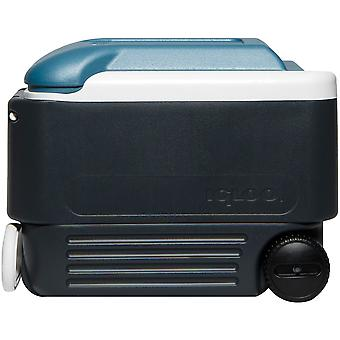 IGLOO MaxCold 40 qt. Roller Hard Cooler - Jet Carbon/Ice Blue