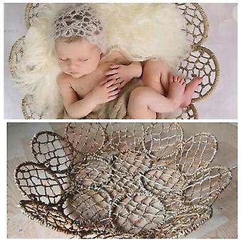 Newborn Photography Props Iron Weaving Basket Frame Fotografia Accessories,