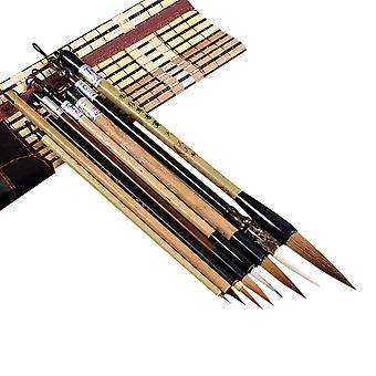 Bamboo Calligraphy Brushes Set, Writing Art Painting Tool