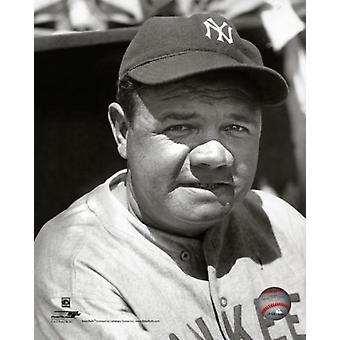 Babe Ruth #3 of the New York Yankees Portrait circa 1930 Photo Print