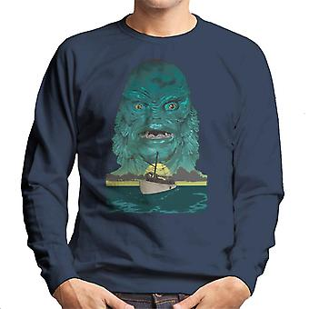 The Creature From The Black Lagoon Demon Head Boat Men's Sweatshirt