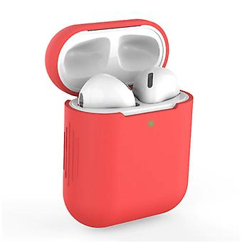 SIFREE Flexible Case for AirPods 1/2 - Silicone Skin AirPod Case Cover Smooth - Red