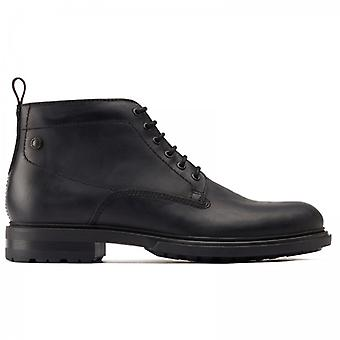 Base London Clifton Mens Leather Ankle Boots Black