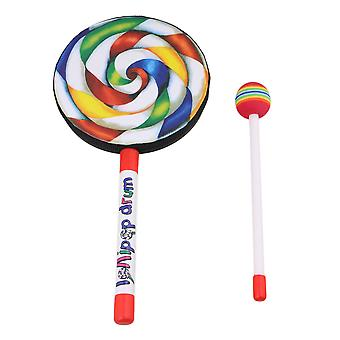 5.9 Inch Lollipop Shape Drum Percussion Education Toys for Kid and baby