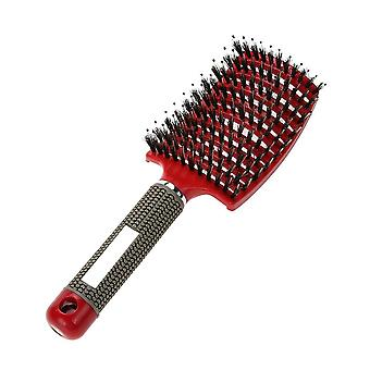 Hår hårbotten Massage Comb Hårborste Borst Nylon Kvinnor Våt Lockigt Detangle