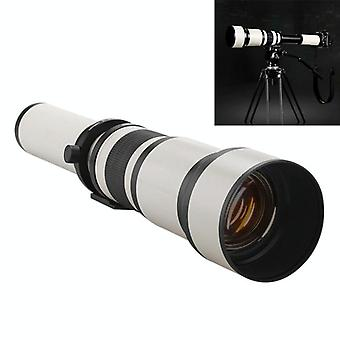Lightdow 650-1300mm Telephoto Zoom Camera Lens T2 Astronomical Mirror Telephoto Lens