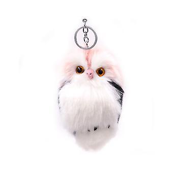 Plush Owl Keychain