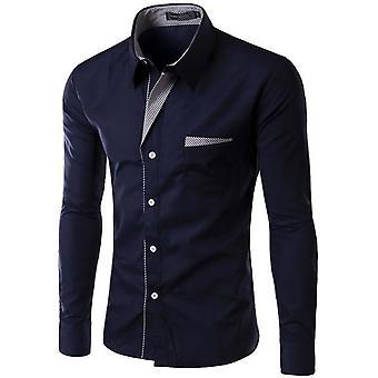 Pitkähihaiset miehet Slim-fit Design Formal Casual Shirt