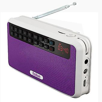 Bluetooth Rechargeable Fm Radio With Built-in Speaker, Amplifier And Flashlight