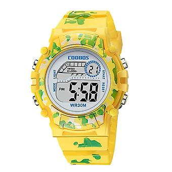 Kids Watches Led Colorful Flash Digital Waterproof Alarm Creative's Clock