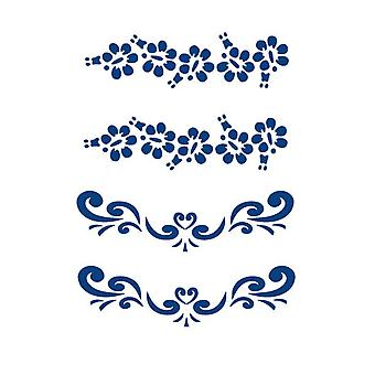 Låtsastatuering 2 x 2 motiv Blå