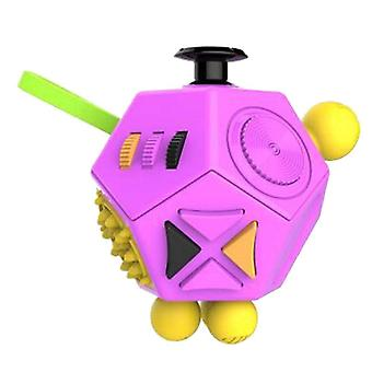 12 Brinquedos criativos de quebra-cabeça, dados de alívio de estresse, cubo anti-ansiedade