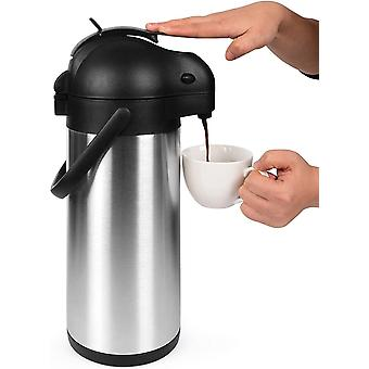 Cresimo 3 Litre Pump Action Airpot / Thermal Coffee Flask / 24 Hour Cold Retention / Hot Water Jug