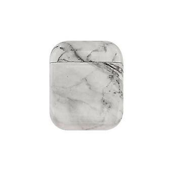 Étui earphone pour airpods 2 cas de luxe marble hard headphone case
