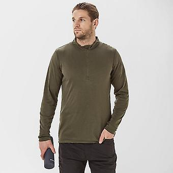 Peter Storm Men's Long Sleeve Thermal Zip Baselayer Green