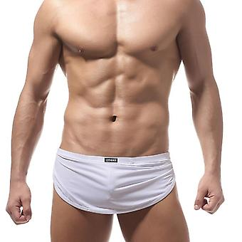 Sexy Underwear Men's Sleepwear Lounge Shorts Cotton Plaid Thin Home Boxer