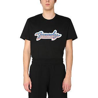 Givenchy Bm71123002001 Men's Black Cotton T-shirt
