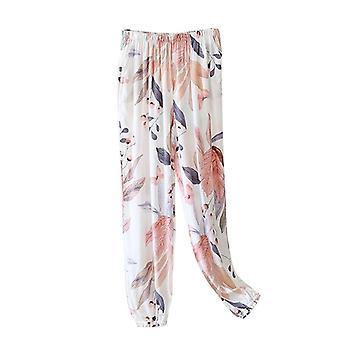 Kesä Syksy Ohuet Unihousut Tulosta Pyjamapohjat Home Night Lounge Wear