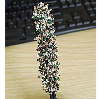 Svatební svatební kamínkový perlový květ, čirý křišťálový ručně vyráběný, Maruko Vlasy