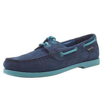 Chatham Pippa Ii G2 Women's Lace Up Boat Shoes In Navy Leather