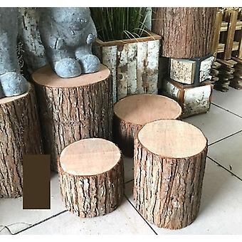 Retro fir kuori puu kanto jakkara ontto keinotekoinen valokuvaus rekvisiitta häät