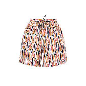 Crema ligera de pantalones cortos de playa impresos de Sundance